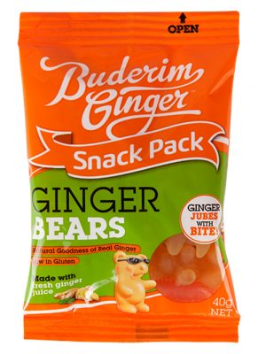 Buderim Ginger Bears Snack Pack