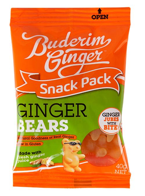 Buderim Ginger Bears Snack Pack