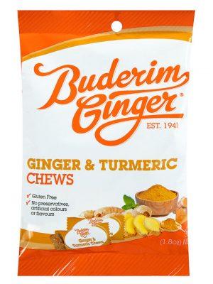 Buderim Ginger Tumeric Chews 50g
