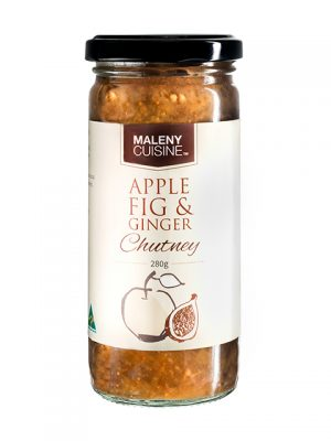 Apple Fig Ginger Chutney