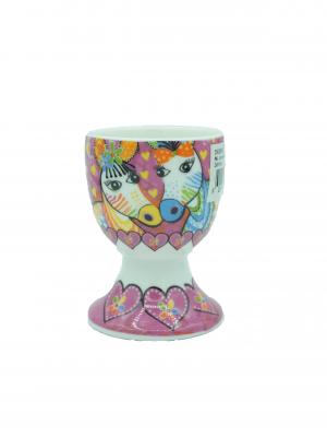 Love Hearts Egg Cup Zig Zag Zebra01