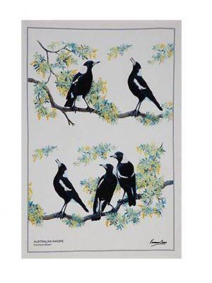 Product Tea Towel Australian Magpie01
