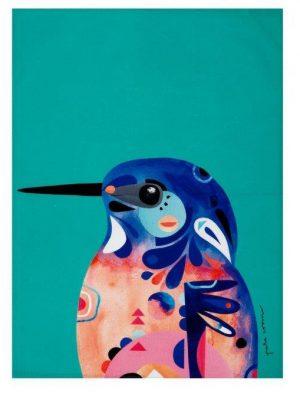 Product Tea Towel Azure Kingfisher01