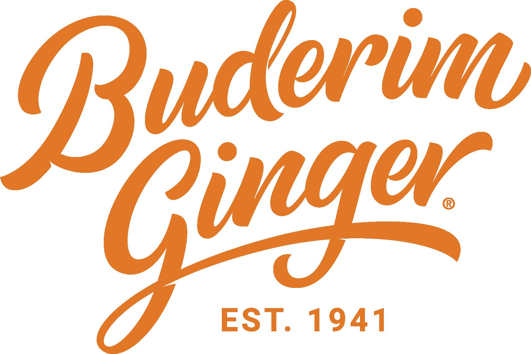Buderim Logo Est 1941 Orange Rgb