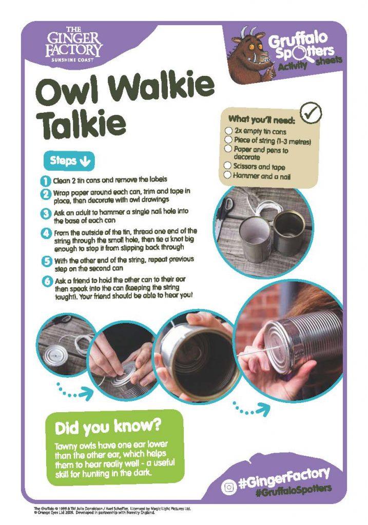 Gf Gruffalo Spotters Activity Sheet Walkie Talkie