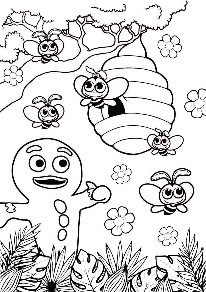 Gf Lockdown Coloring Sheet Bees