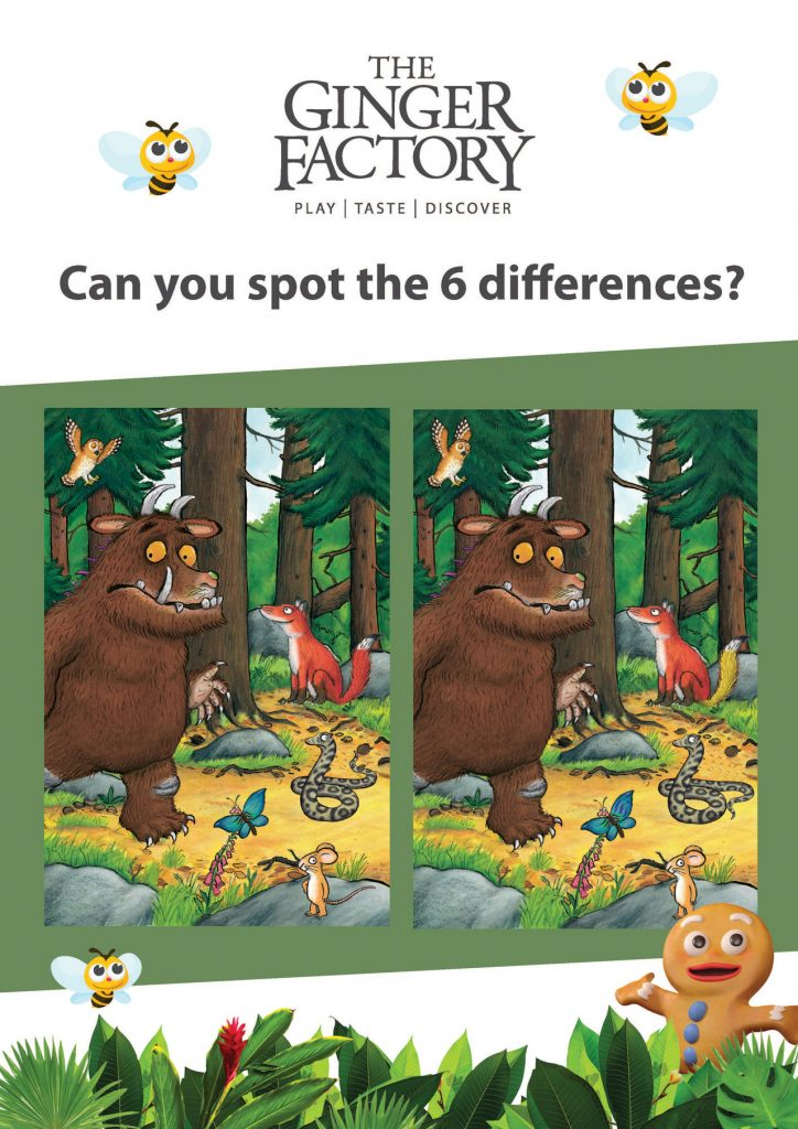 Spot The Difference Gruffalo